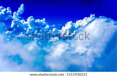 Blue sky white clouds view. Blue sky with white clouds. Blue sky clouds background. Blue sky and white clouds #1515930221