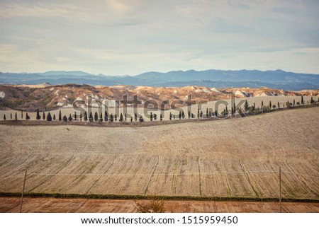 Tuscany - Italy. Tuscany hills, panorama. background