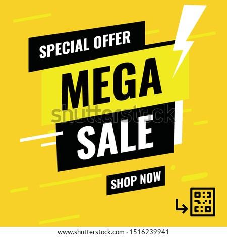 Banner Mega sale, Special Offer - Modern design- Vector -  illustration #1516239941