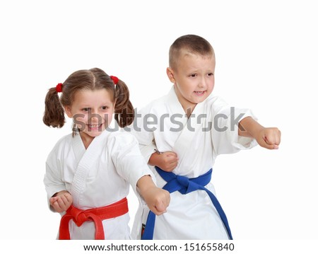 Athletes on a white background beat punch hand #151655840