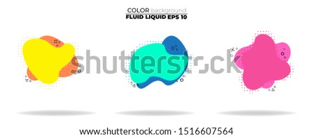 fluid shape vector set. gradient liquid with neon colors, item for the design of a logo, flyer, persentation, gift card,  Poster on wall,  landing page, ,coverbook,  banner, social media posted #1516607564