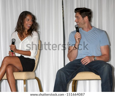 LOS ANGELES - AUG 25:  Christel Khalil, Daniel Goddard at the Goddard and Khalil Fan Event at the Universal Sheraton Hotel on August 25, 2013 in Los Angeles, CA #151664087