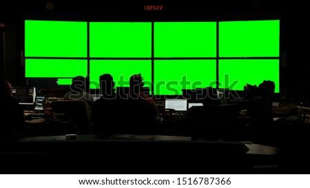News Broadcast Control Room Still 1