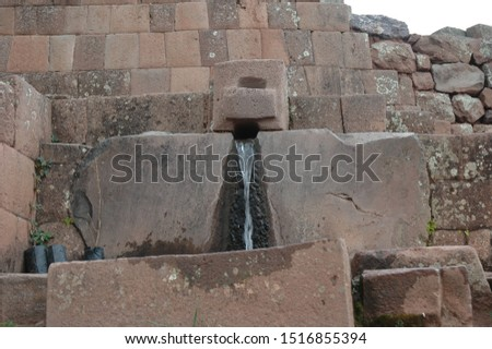 archaeological complex of Pisac over the sacred valley of the incas Peru #1516855394