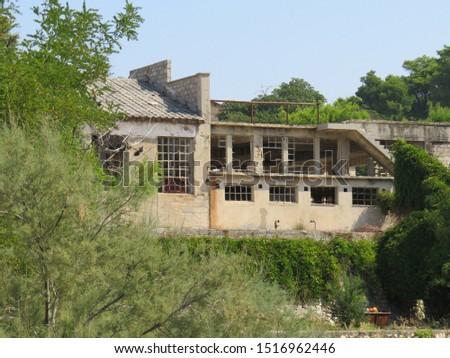 Ruins of a factory at abandoned prison Goli otok croatia #1516962446