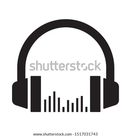 Headphone headset icon in flat style. Eps #1517031743