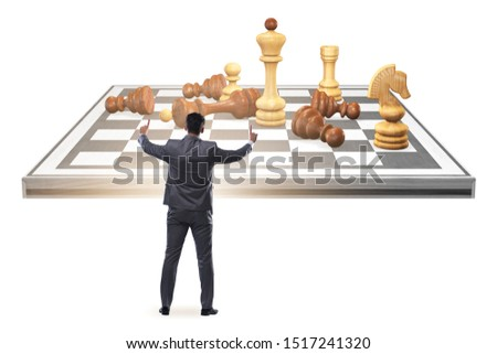 Strategy and tactics concept with businessman #1517241320