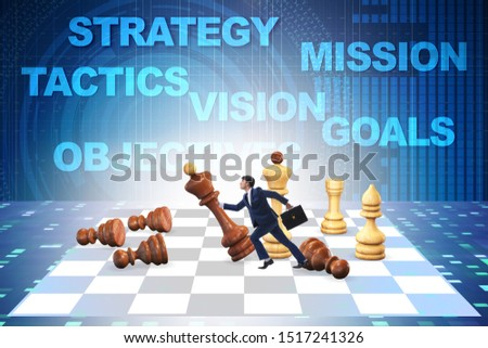Strategy and tactics concept with businessman #1517241326