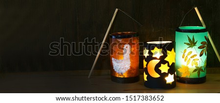 Self made lanterns for Saint Martin's Day,  Banner                    #1517383652