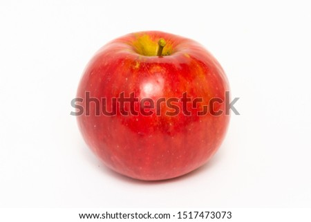 red apple on a white background #1517473073