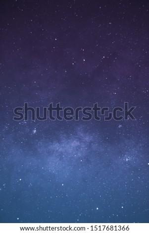 Milky Way Galaxy and stars nebula background #1517681366