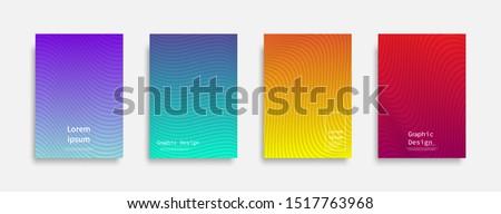 Minimal covers design. Colorful line design. Future geometric patterns. Eps10 vector. #1517763968