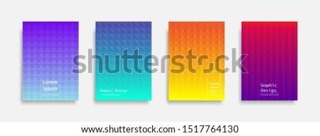 Minimal covers design. Colorful triangle design. Future geometric patterns. Eps10 vector. #1517764130