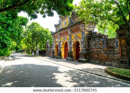 Hue, Vietnam - 29 Sep 2019- Hue Imperial Citadel - Hue is ancient capital of Vietnam, Unesco heritage site. Destination of tourist. #1517800745