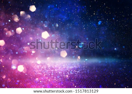 abstract glitter pink, purple and blue lights background. de-focused #1517813129