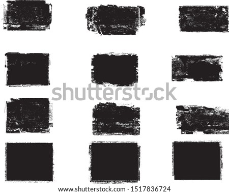 Grunge post Stamps Collection, rectangles . Banners, Insignias , Logos, Icons, Labels and Badges Set . vector distress textures.blank shapes. #1517836724