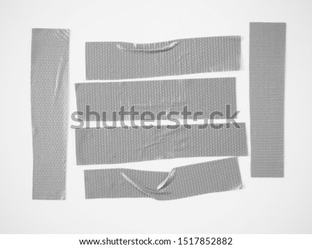 Set of color banners gray scotch tape- sticky tape cut on white background. can use business-paperwork-banner products #1517852882