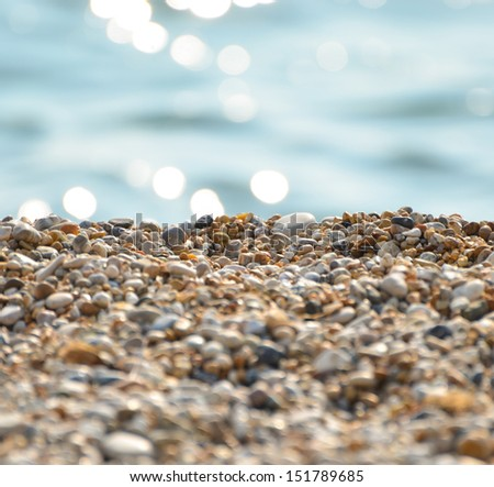 Stones on beach and sea water #151789685