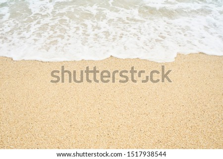 soft wave sea on the sandy beach  in summer #1517938544