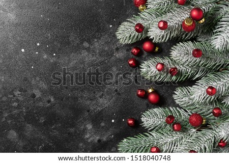 Christmas background. A place for a label