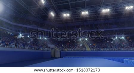 Professional gymnastic gym. 3D illustration #1518072173