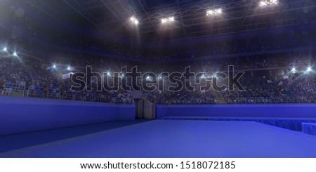 Professional gymnastic gym. 3D illustration #1518072185