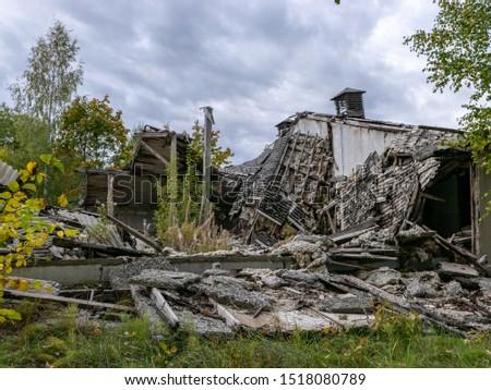 Demolition of the building. Destroyed building #1518080789
