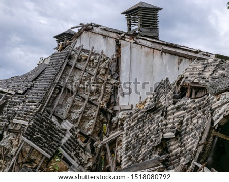 Demolition of the building. Destroyed building #1518080792