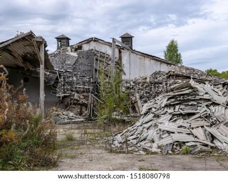 Demolition of the building. Destroyed building #1518080798