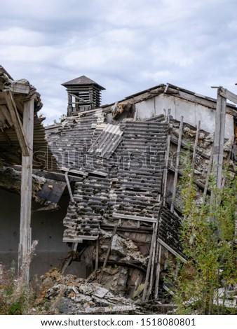 Demolition of the building. Destroyed building #1518080801