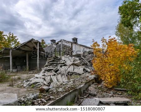 Demolition of the building. Destroyed building #1518080807