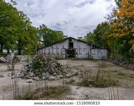 Demolition of the building. Destroyed building #1518080810