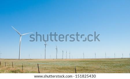 Wind turbines farm in Eastern Colorado. #151825430