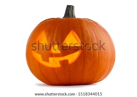 One Halloween Pumpkin isolated on white background #1518344015