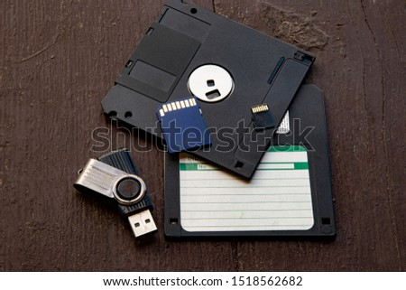 Floppy disks and memory cards #1518562682