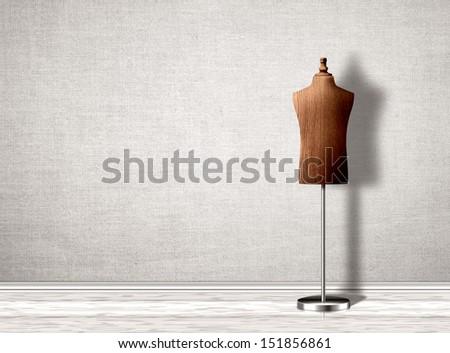 Empty mannequin torso template.
