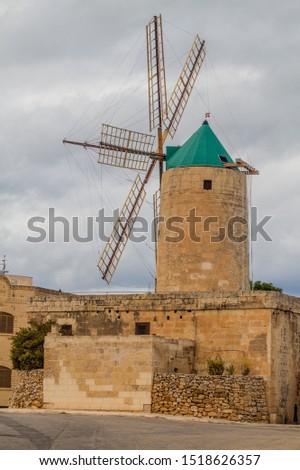 Ta' Kola Windmill in Xaghra village on Gozo island, Malta #1518626357