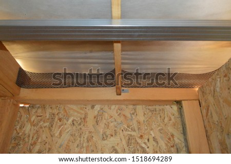 Installation of a suspended structure for drywall #1518694289