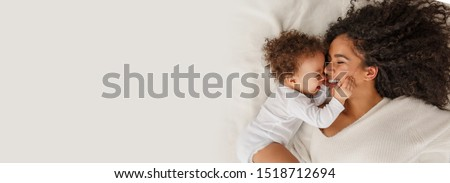Love of a mother and baby. Family at home. Lifestyle Royalty-Free Stock Photo #1518712694