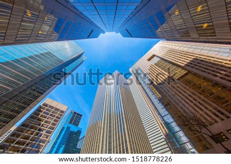 Scenic Toronto financial district skyline and modern architecture #1518778226