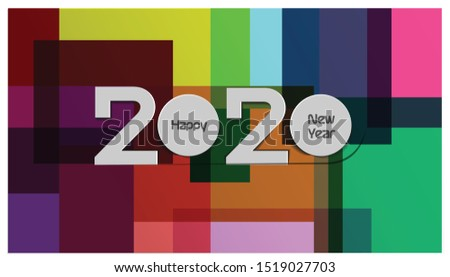 Happy new year  2020text - background colorful -  modern Idea and Concept Vector illustration. #1519027703