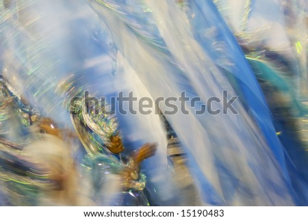 The world famous Carnaval parade at the Sambodromo, Rio de Janeiro Brazil