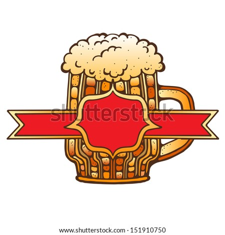 Mug of beer and space for text - raster version