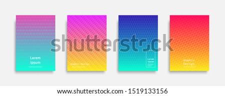Minimal covers design. Halftone dots colorful design. Future geometric patterns. Eps10 vector. #1519133156