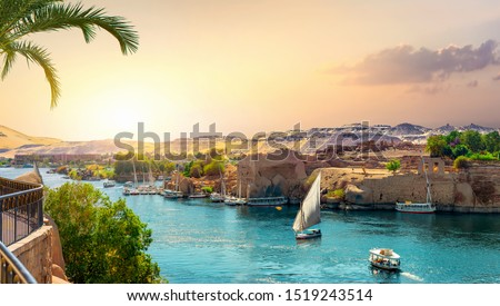 View of the Great Nile in Aswan #1519243514