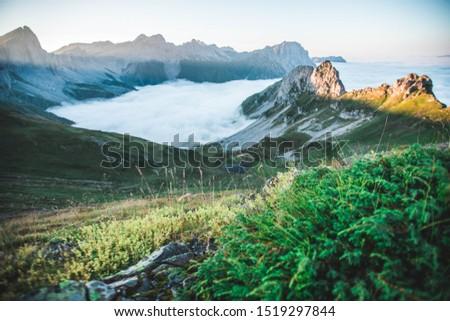Sea of fog, french mountains on Pyrénées #1519297844