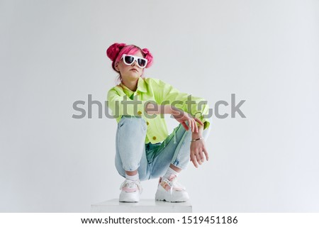 woman young model in stylish clothes