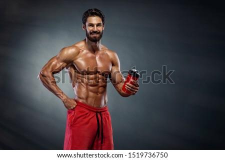 Muscular Men Drinks Protein Drink, Energy Drink #1519736750