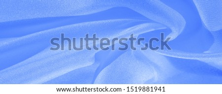 Texture, background, pattern, silk blue fabric. Crepe satin on the back is an excellent fabric for design, on the one hand it has a satin finish, and on the other - crepe, which makes it reversible, #1519881941