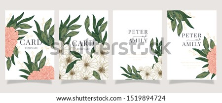 Luxury Floral Wedding invitation cards collection. #1519894724